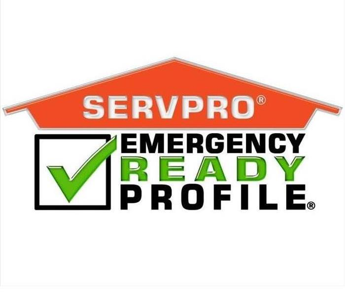 SERVPRO house logo and Emergency Ready Profile words with green check mark in a box